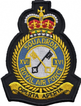 No. XVI (16) (R) Squadron Royal Air Force RAF Crest MOD Embroidered Patch